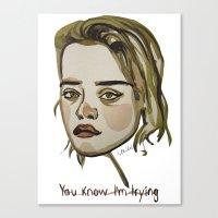 sky ferreira Canvas Prints featuring Sky Ferreira by Icillustration