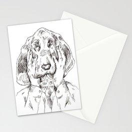 Sad Bloodhound Stationery Cards