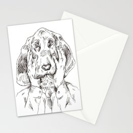 Sad Bloodhound Stationery Cards