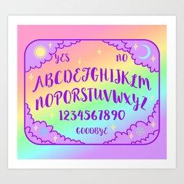 Purple and Rainbow Spirit Board Art Print