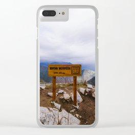 Machu Picchu 006 Clear iPhone Case