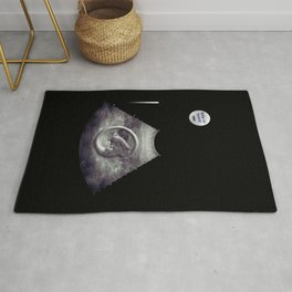 Alien on board - Ultrasound - badge variant Rug