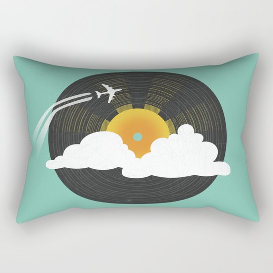 Sunburst Records Rectangular Pillow