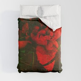 Mom's Red Red Peonies Comforters