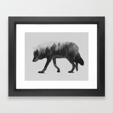The Wolf (black & white version) Framed Art Print