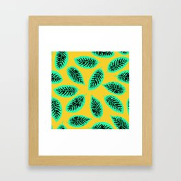 Dieffenbachia tropical leaf pattern Framed Art Print
