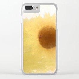Sun ripened petals Clear iPhone Case