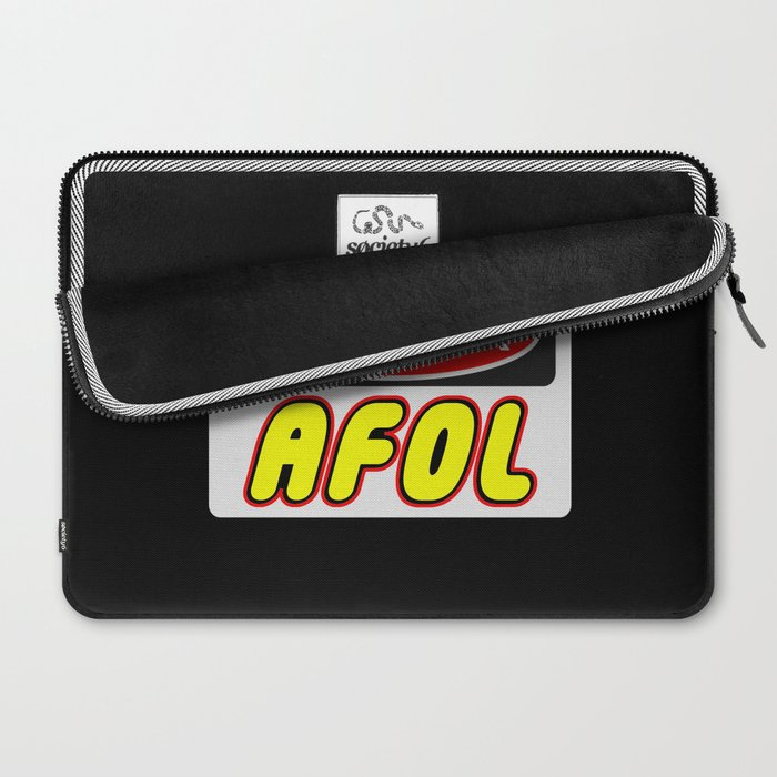 Danger AFOL Adult Fan of LEGO by Chillee Wilson Laptop Sleeve