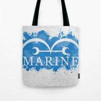 marine Tote Bags featuring Marine by rKrovs