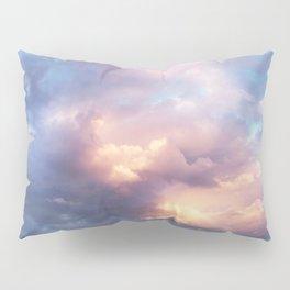 Sunset | Pink Clouds | Sky | Rainbow | Unicorn Colours | Nature Pillow Sham
