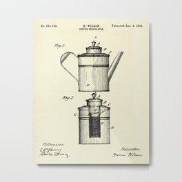 Coffee Percolator-1894 Metal Print