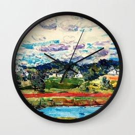 Frederick Childe Hassam - Newfields, New Hampshire - Digital Remastered Edition Wall Clock