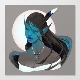 - Portrait of a fairy called Maya - Canvas Print