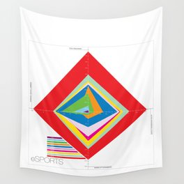 eSports Infographic Wall Tapestry