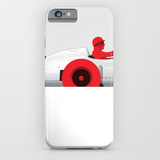Juan Manuel Fangio, Mercedes W196, 1955 iPhone & iPod Case