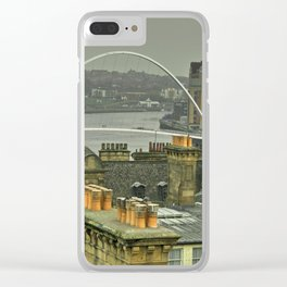 Rooftops upon Tyne Clear iPhone Case