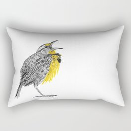 Eastern meadowlark Rectangular Pillow