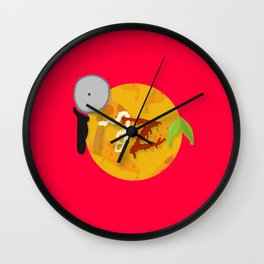 Feed Me- Pizza3 Wall Clock