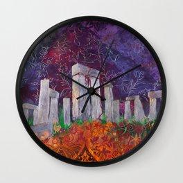Moonlit Henge - Stonehenge, England Wall Clock