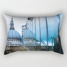 Blue Dome Rectangular Pillow