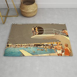 Illusionary Pool Party Rug