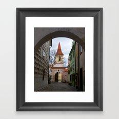 Little Town Czech Republic Framed Art Print