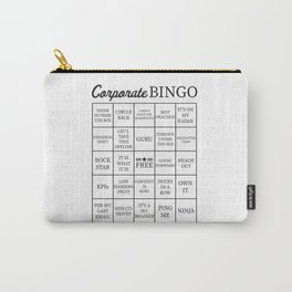 Corporate Jargon Buzzword Bingo Card Carry-All Pouch