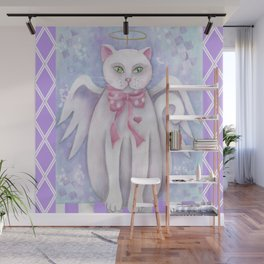 The Angel Cat Wall Mural