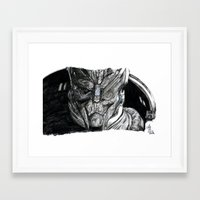 garrus Framed Art Prints featuring Garrus by tattooeddragonfly
