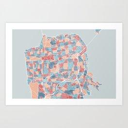 San Francisco modern map Art Print