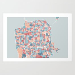 San Francisco modern map Art Print