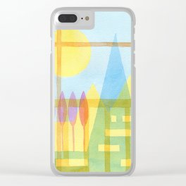 From the inside out -watercolor landscape Clear iPhone Case