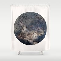 gravity Shower Curtains featuring Gravity by Louise Donovan