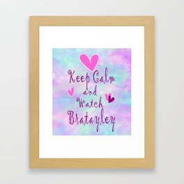 Bratayley Keep Calm Framed Art Print