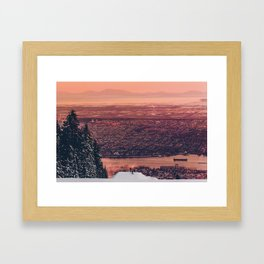 Sick Mountain Framed Art Print