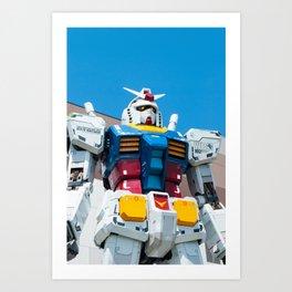 Gundam 1:1 scale at Odaiba, Tokyo Art Print