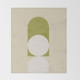 Contemporary Composition 05 - Golden Lime Throw Blanket
