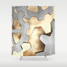 Abstract with the gears Shower Curtain