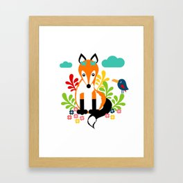 Miss Fox Framed Art Print