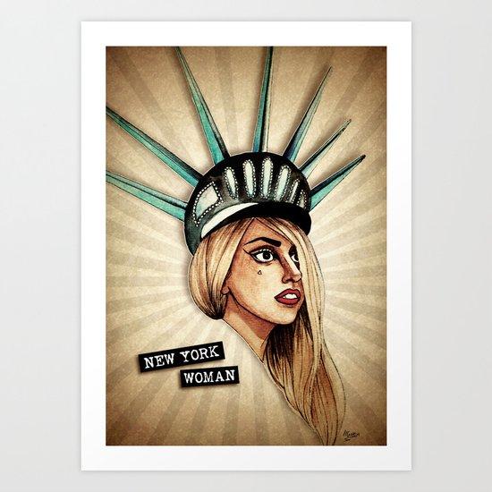 New York Woman Art Print