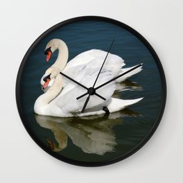 Synchronized Swans Wall Clock