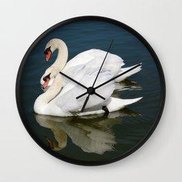 Synchronized Swans Wall Clock