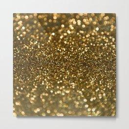 Gold Sparkle Pattern Metal Print