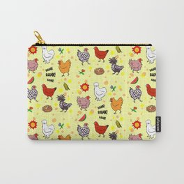 Cute seamless chickens pattern cartoon Carry-All Pouch