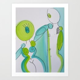 Abstract Lovers #1 Art Print