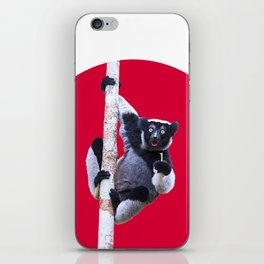 Indri indri sitting in the tree iPhone Skin