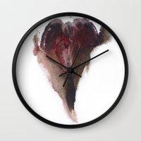 vagina Wall Clocks featuring AshleyLane's Vagina Print No.3 by Nipples of Venus