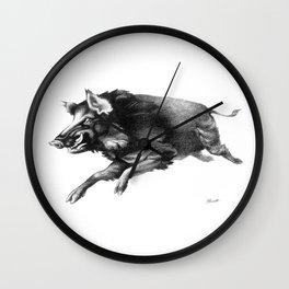Running Boar Wall Clock