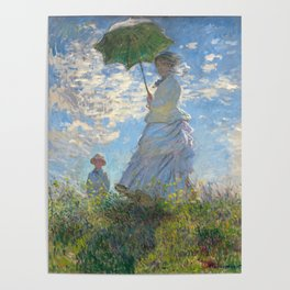 Monet - Madame Monet and Her Son - 1875 Poster