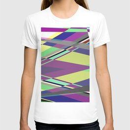 Crossed Paths - abstract, geometric, intersecting pastel shapes T-shirt